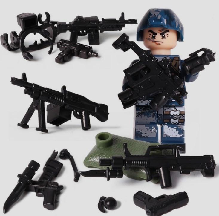 6体 武器つきセット 戦争軍人軍隊マンミニフィグ LEGO 互換 ブロック ミニフィギュア レゴ 互換t28_画像4