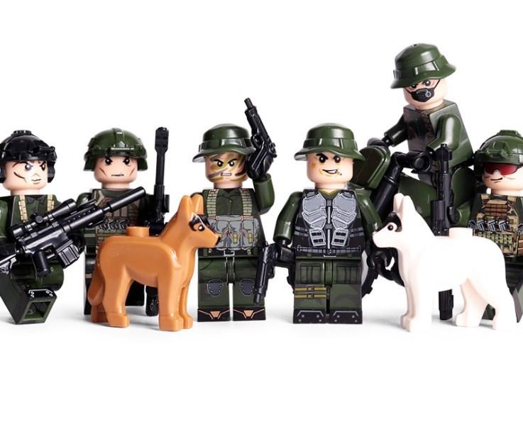 野戦部隊6体 バイク武器つきセット 戦争軍人軍隊マンミニフィグ LEGO 互換 ブロック ミニフィギュア レゴ 互換t30_画像2