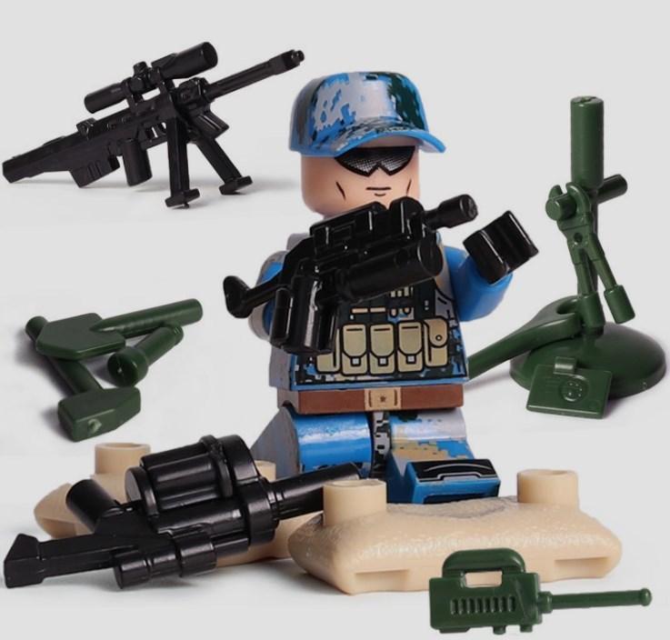 6体 武器つきセット 戦争軍人軍隊マンミニフィグ LEGO 互換 ブロック ミニフィギュア レゴ 互換t28_画像2