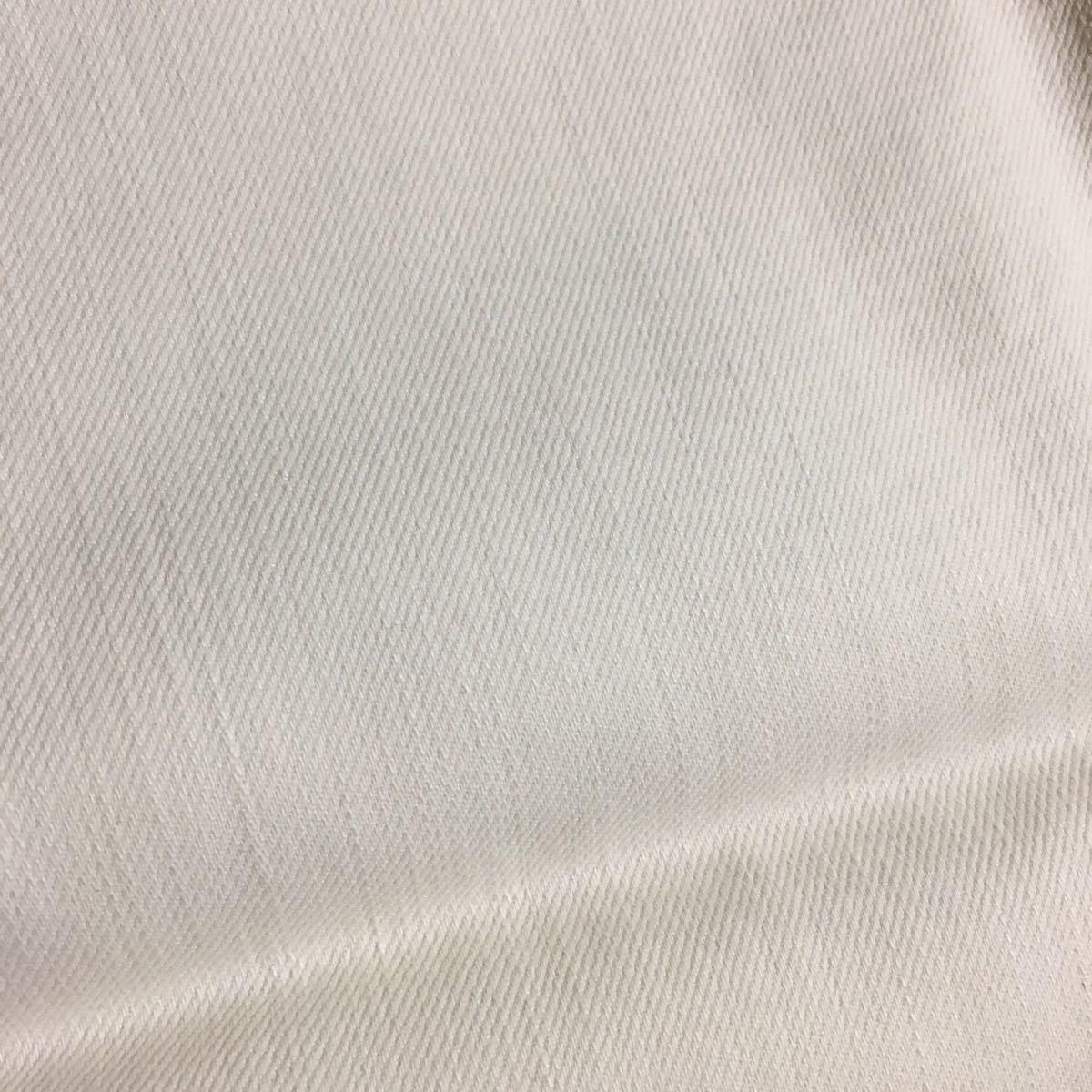生地 ホワイトデニム 53 x110幅  縫いやすい薄手 横ストレッチ入り 1点のみ はぎれ