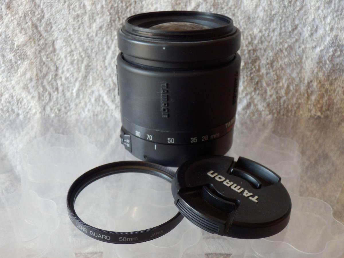 一眼レフカメラ用中古レンズ TAMRON AF 28-80mm CANON FEマウント 動作未確認ジャンク_画像1