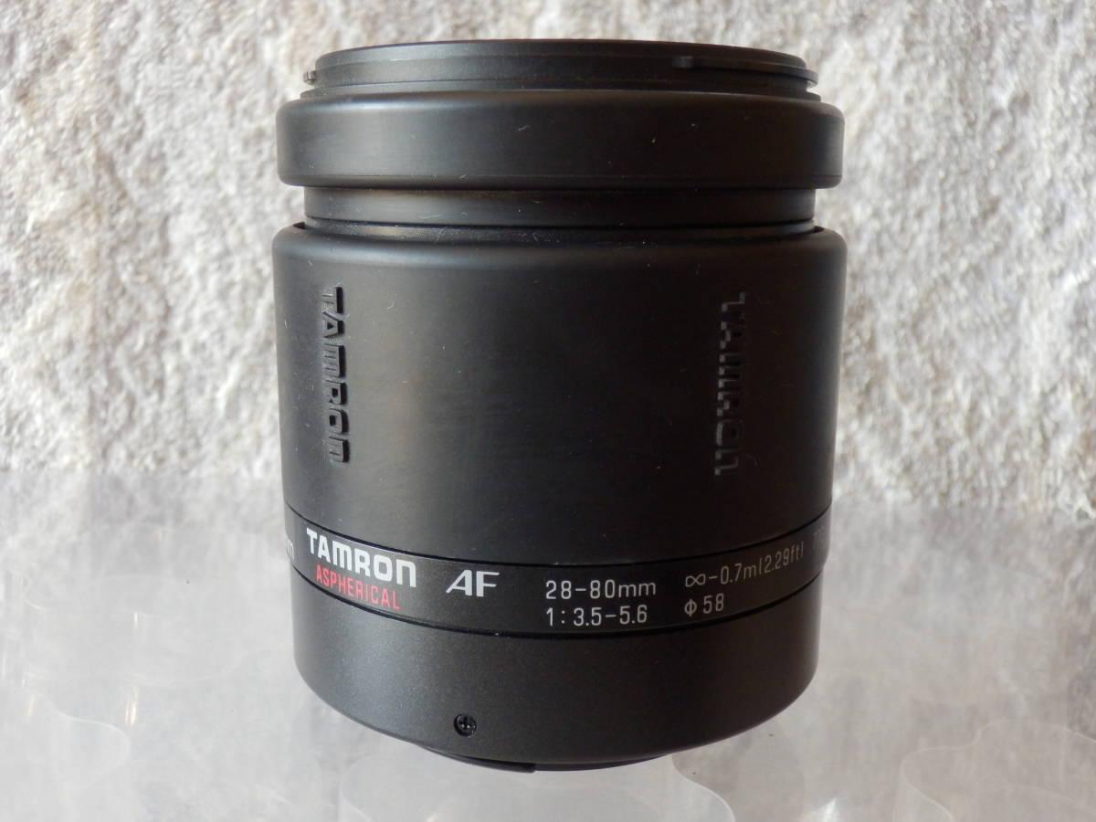 一眼レフカメラ用中古レンズ TAMRON AF 28-80mm CANON FEマウント 動作未確認ジャンク_画像4
