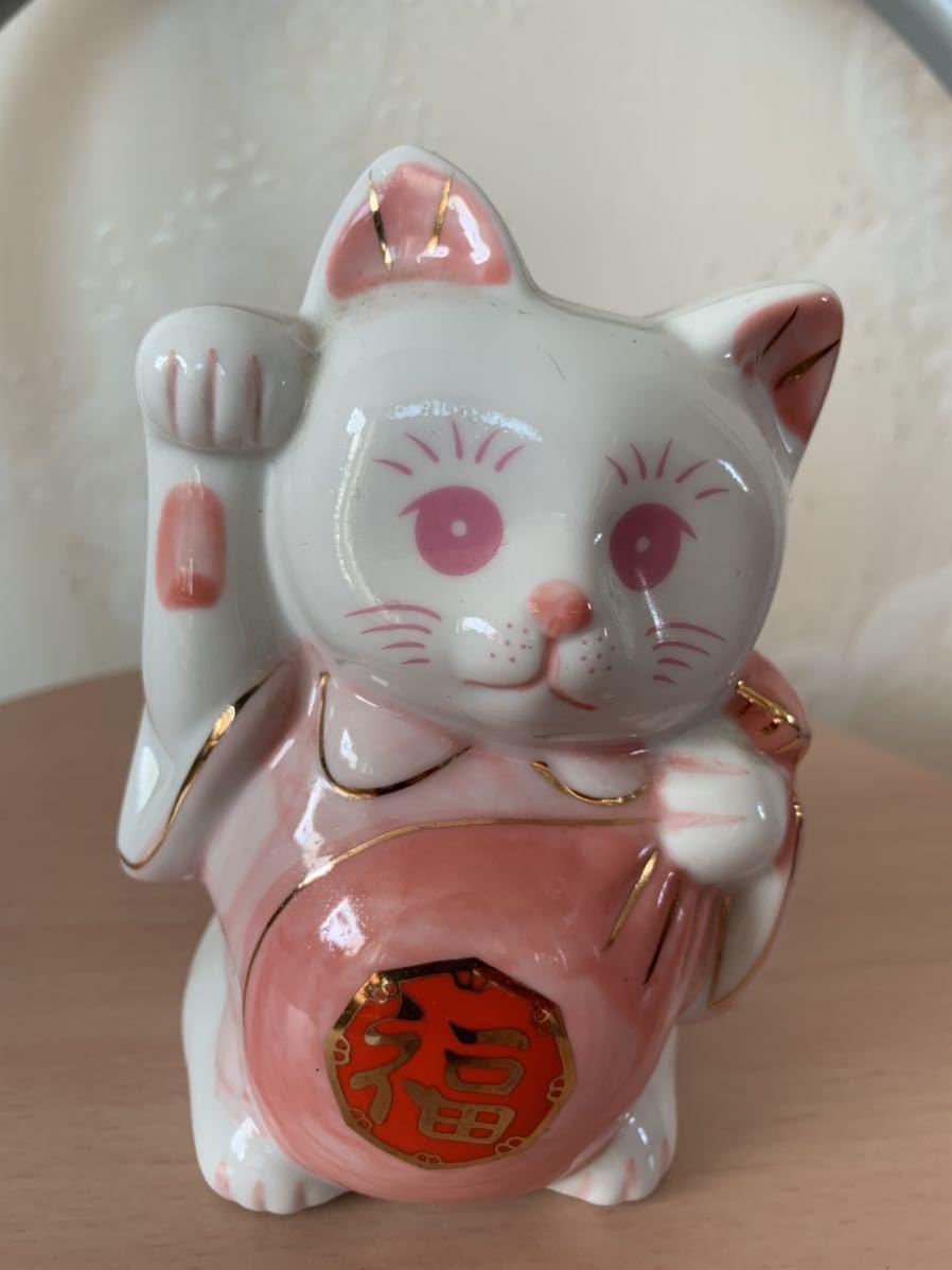 招き猫 開運招福 陶器_画像1