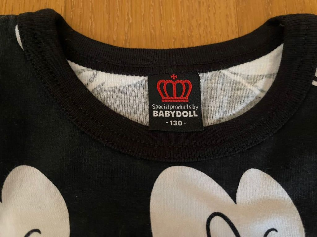 【ベビードール 】◆ミッキーマウス ◆ 半袖Tシャツ ◆ サイズ 130_画像3