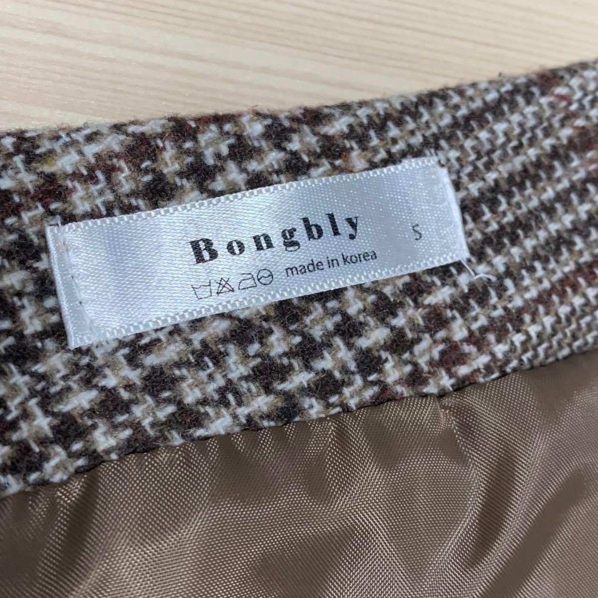 韓国ファッション チェック柄 ミニスカート