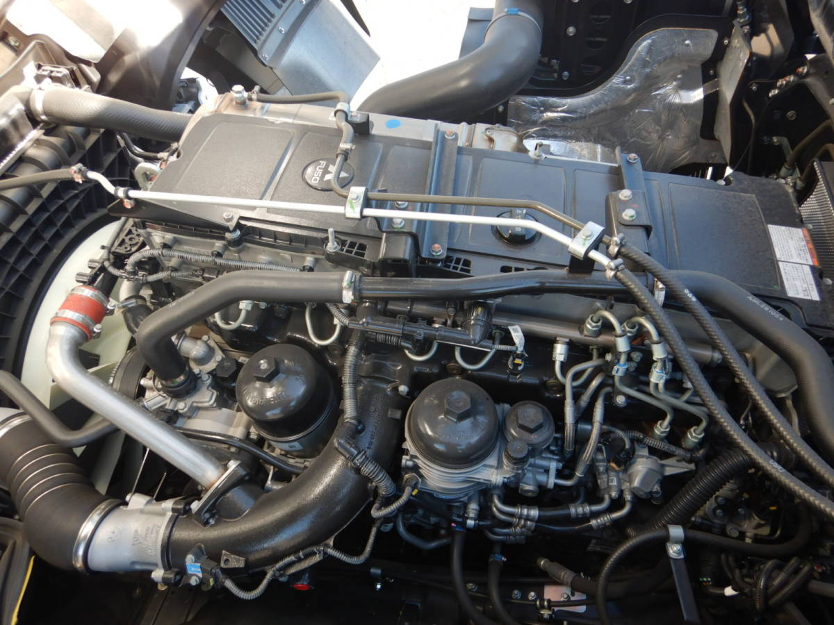【CH16179】H31年 三菱 スーパーグレート 未使用 タダノ4段クレーン ZE504SLHR セルフローダー 走行1700km台 ラジコン&ウィンチ 積載12.2t_画像10