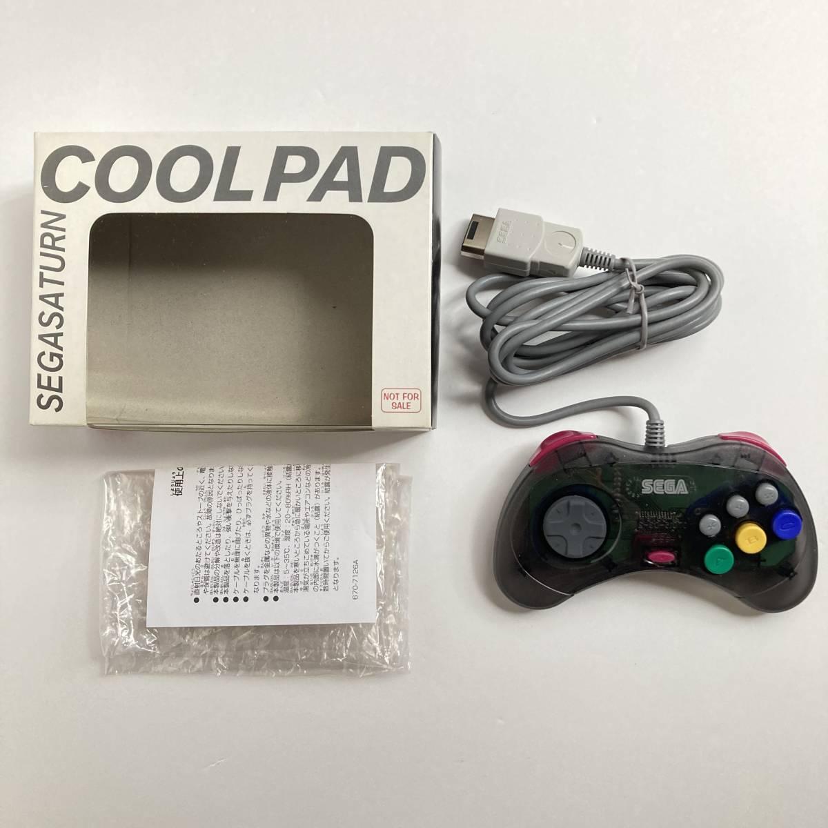 セガサターン COOL Pad コントローラー HSS-0162 / Cool Pad Controller Sega Saturn Black Clear Skeleton This is COOL Japan Tested