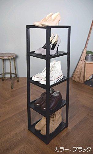 ショコラブラウン ライクイット(like-it)靴収納シューズラック スリム 5段幅23.8x奥28.5x高93cmショコラブラ_画像2