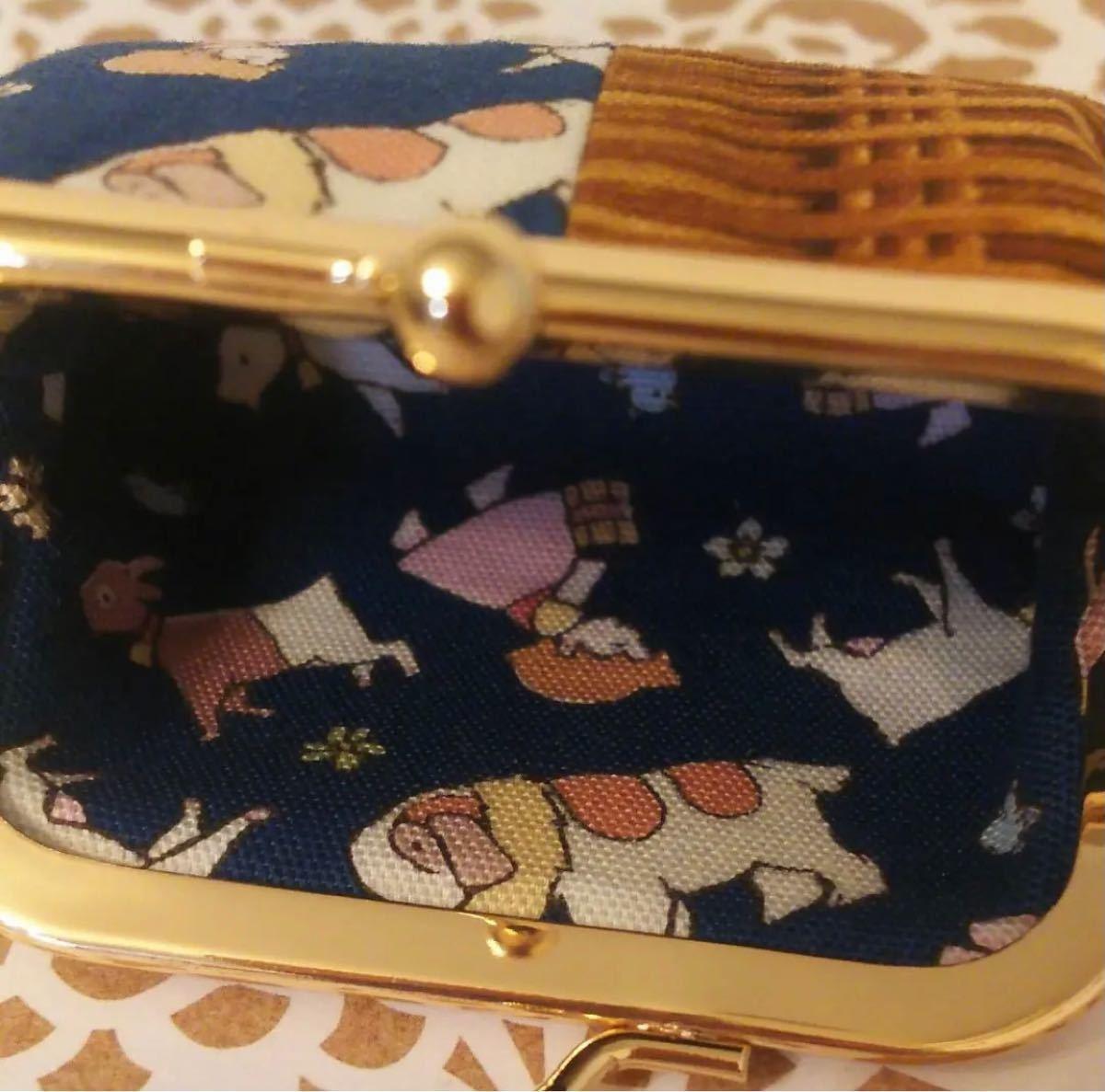 【サジュンさま専用ページ】【新品未使用】ハンドメイド ハイジ がま口& 猫ちゃんがま口