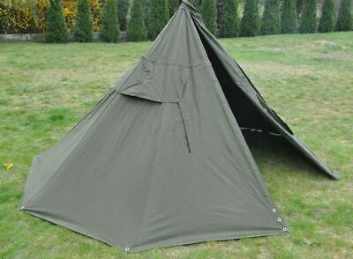 未使用 ポーランド軍テント180-190cm 2000年製  パップテント ブッシュクラフト