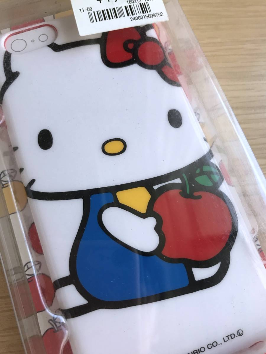 新品未開封 グルマンディーズ iPhone6/6s ハローキティ りんご ソフトジャケット サンリオ_画像3