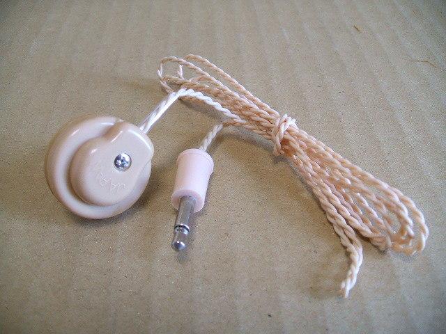 日本製 クリスタルイヤホン 未使用品 _画像1