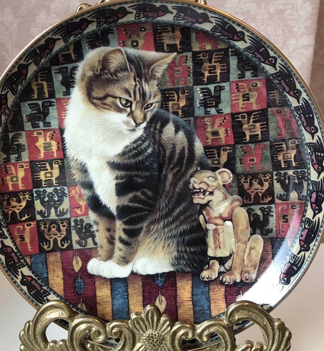 〈送料込〉レズリー アン アイボリー ダンバリーミント プレート 猫 ねこ キャット キャッツ 飾り皿 絵皿 Lesley Anne Ivory cat ⑦_画像1