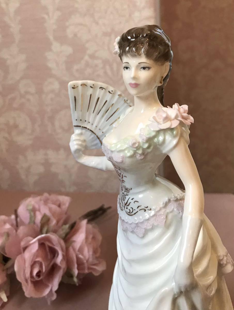 〈送料込〉〈限定品〉コールポート レディ フィギュリン Coalport ドレス 貴婦人 陶器人形 ポーセリンドール 舞踏会 フィギュア ローズ_画像2