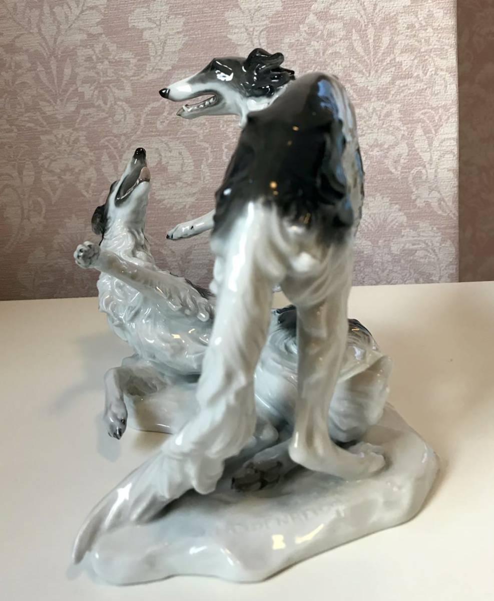 〈送料込〉〈美品〉1937年 ローゼンタール ボルゾイ ロシアングレイハウンド フィギュリン Rosenthal フィギュア 犬 いぬ dog 置物_画像8