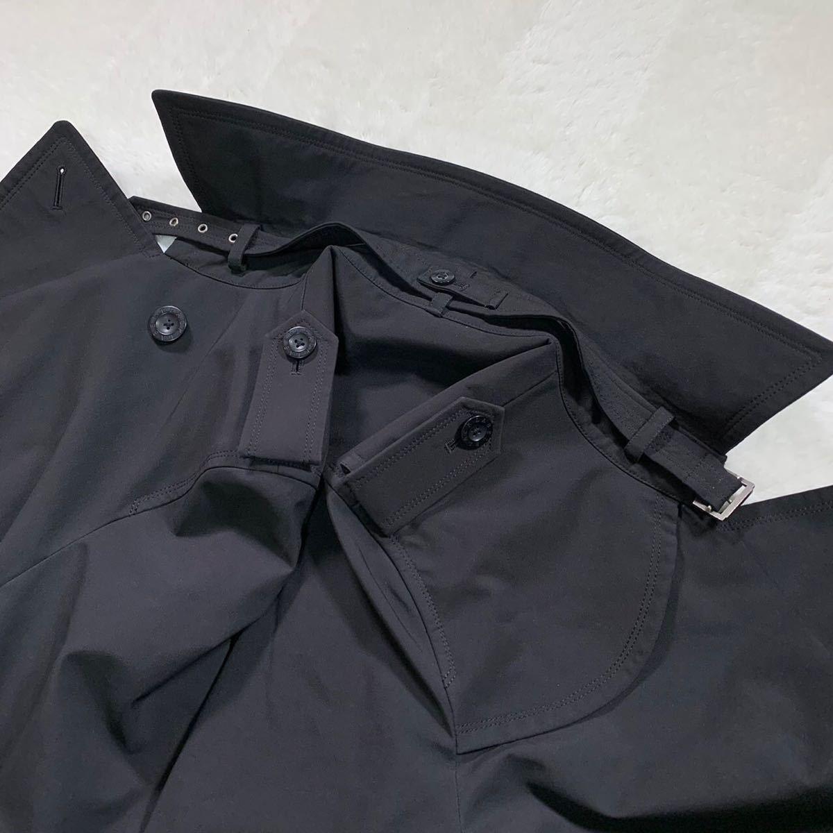 【圧巻ノバチェック】希少な日本製! バーバリーブラックレーベル トレンチコート BURBERRY BLACK LABEL アウター ブルゾン Mサイズ _画像7