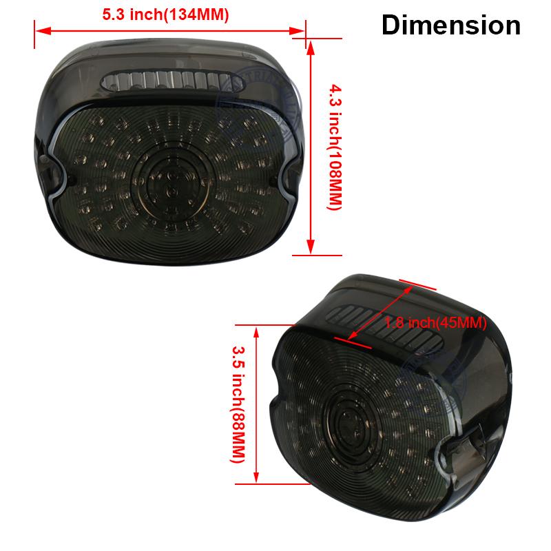 ハーレー LED 12V テール ランプ ライト ブレーキ ウインカー スポーツスター ダイナ FXDL エレクトラ グライド ロードキング _画像3