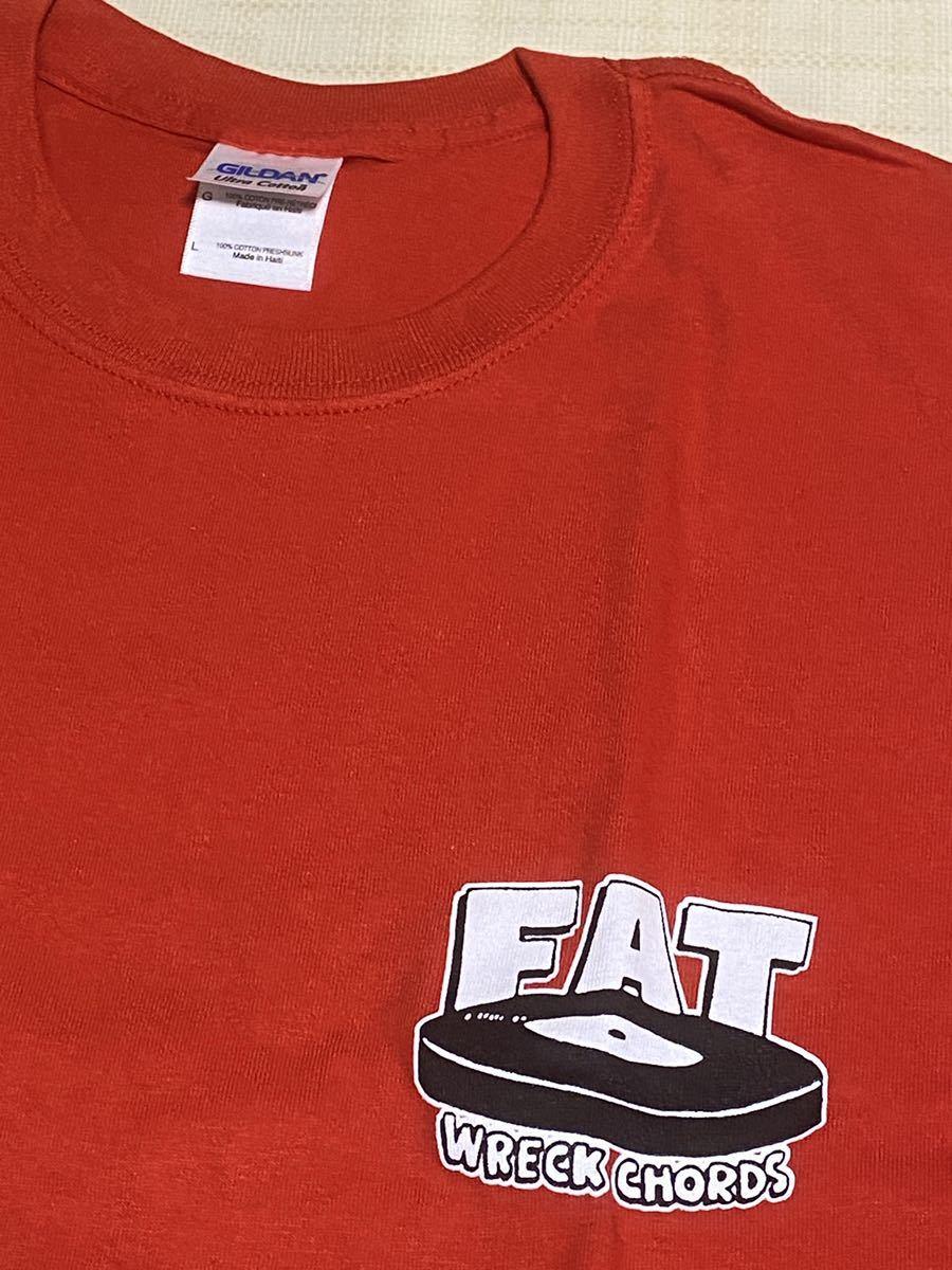 新品未使用 Fat Wreck Chords 25周年 Tシャツ赤 Lサイズ NOFX Hi-STANDARD LAGWAGON NO USE FOR A NAME