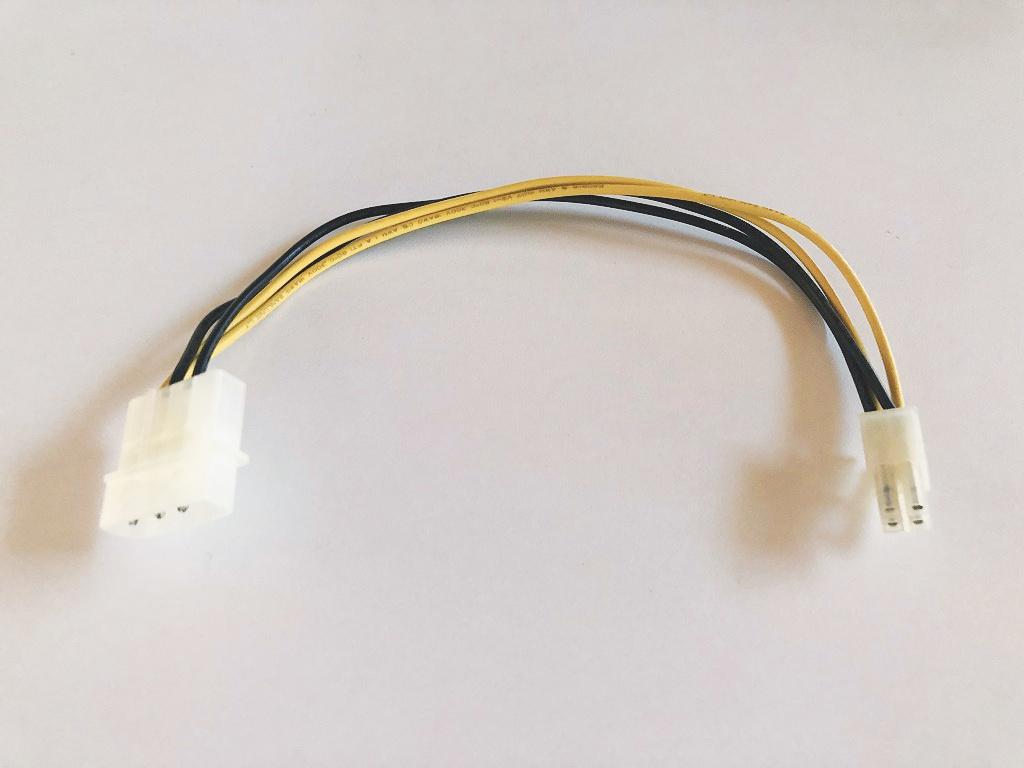送料無料 ペリフェラル 4pin(オス) ⇔ 4P 電源(オス)変換ケーブル 即決 動作保証