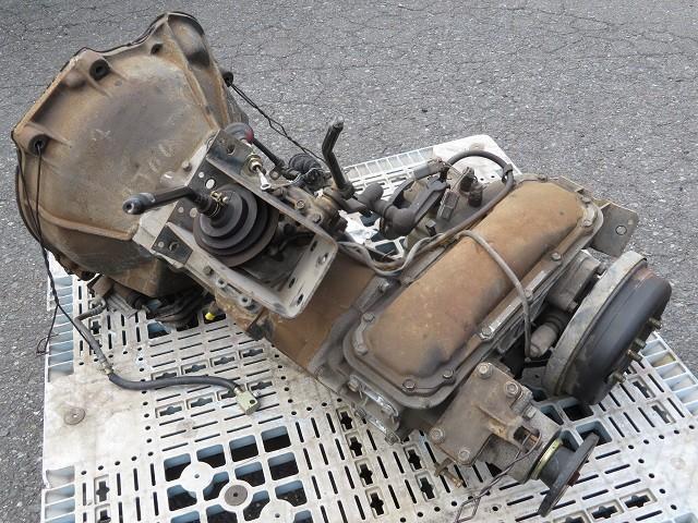 21-12-102  日産 サファリ  FGY60 消防車 TB42S【 マニュアル ミッション 5MT トランスファ PTOレバー  4WD  】 7636km_画像3