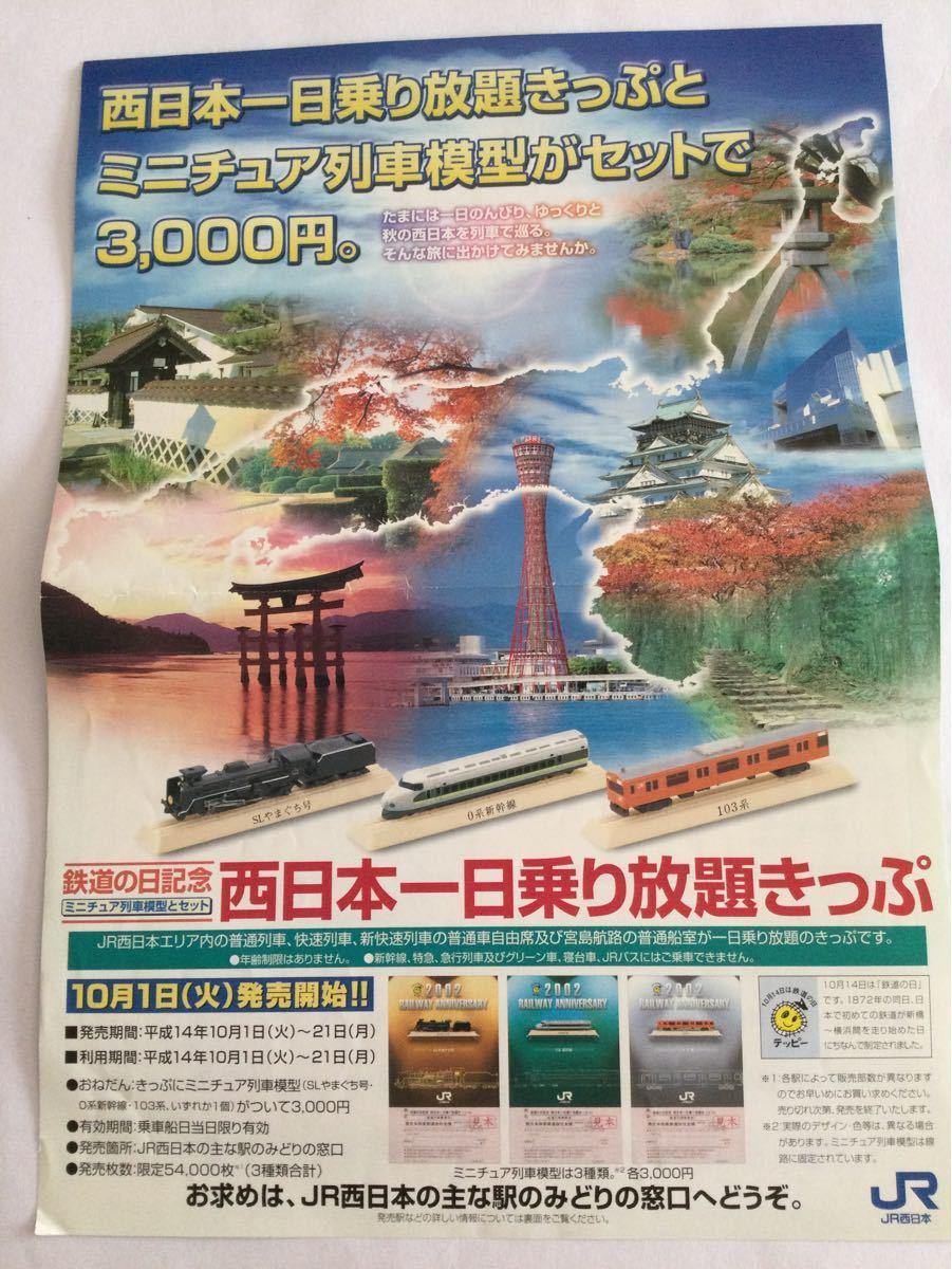 コレクション 鉄道の日記念乗り放題きっぷ ミニチュア列車模型セット【きっぷ使用済み】