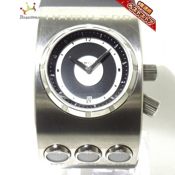 HAMILTON(ハミルトン) 腕時計 X-01 H515910 メンズ チタン/ラバーベルト/2001年宇宙の旅/2001本限定 黒×シルバー