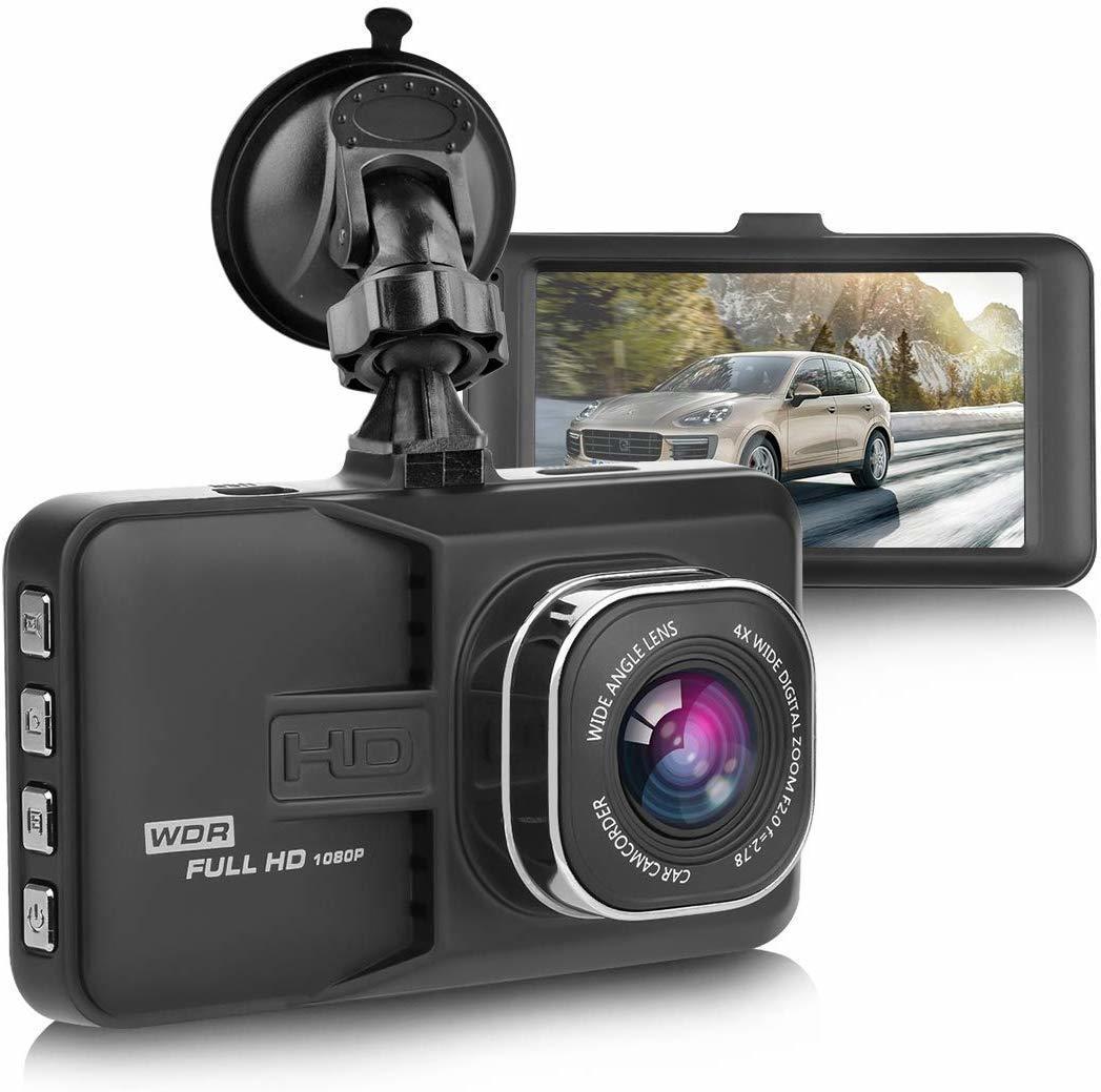 S54 ドライブレコーダー 車載カメラ 1080P フルHD Gセンサー ループ録画 駐車監視 WDR 衝撃録画 日本語 ブラック_画像1