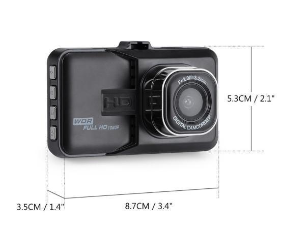 S54 ドライブレコーダー 車載カメラ 1080P フルHD Gセンサー ループ録画 駐車監視 WDR 衝撃録画 日本語 ブラック_画像9