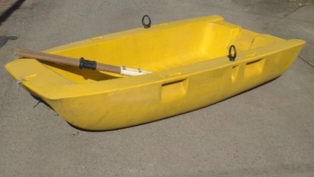 「RYOBI リョービ BOAT ACE ボート エース ROB-23N 手軽にボートフィッシングを楽しめる 手漕ぎモデル 安心の不沈構造 オール 付き」の画像1