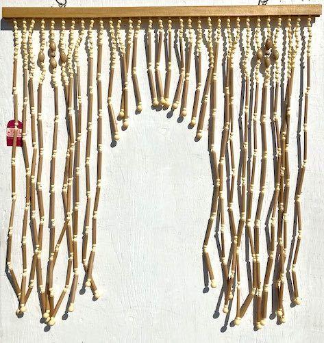 デッドストック 昭和レトロ 暖簾 のれん ヴィンテージ インテリア ディスプレイ 店舗什器 70年代 80年代 2_画像1