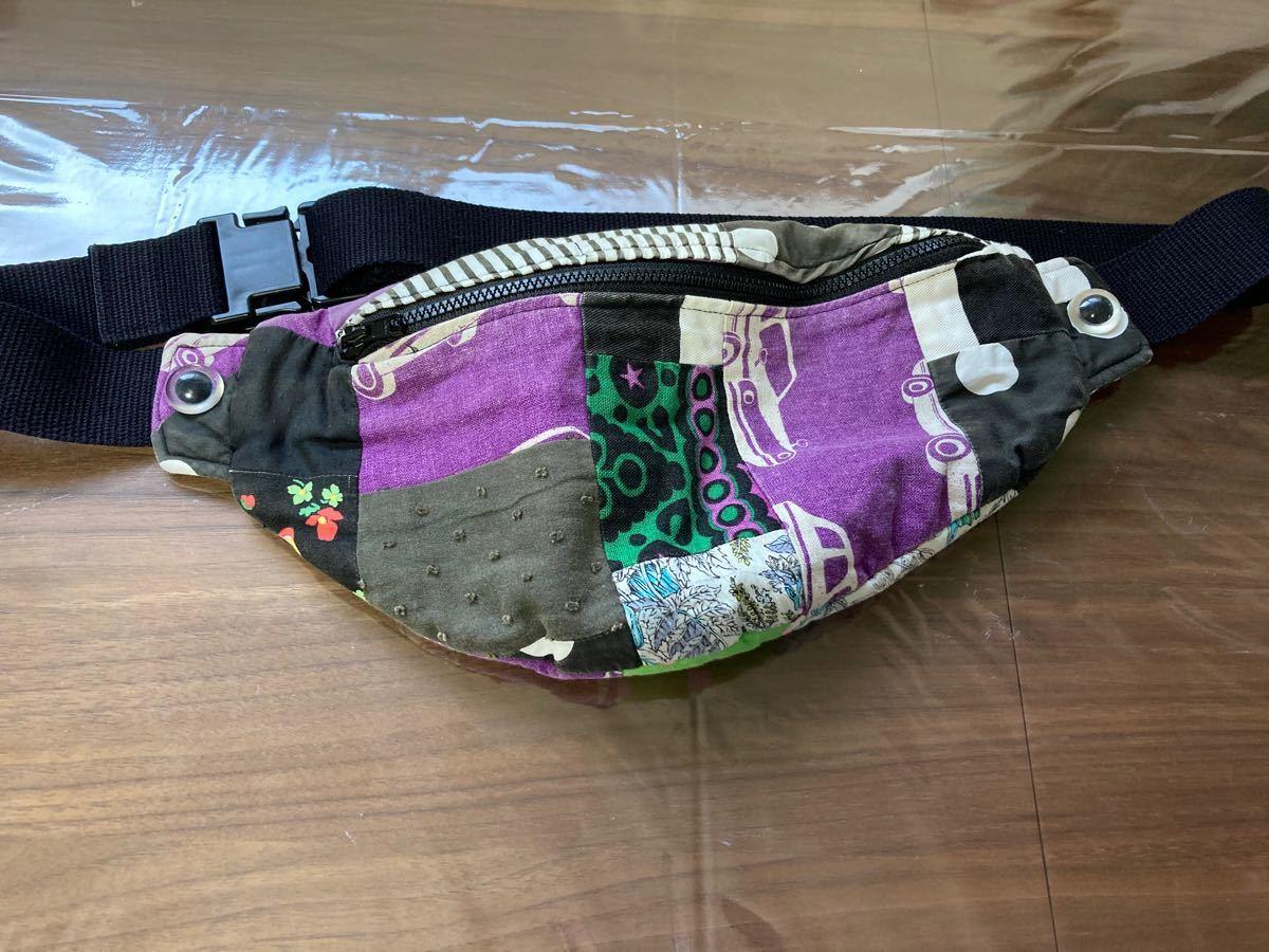 RBT アンティーク パッチワーク ボディバッグ ウエストポーチ バッグ 鞄 ヴィンテージ 古着 ウエストバッグ  ヴィンテージ