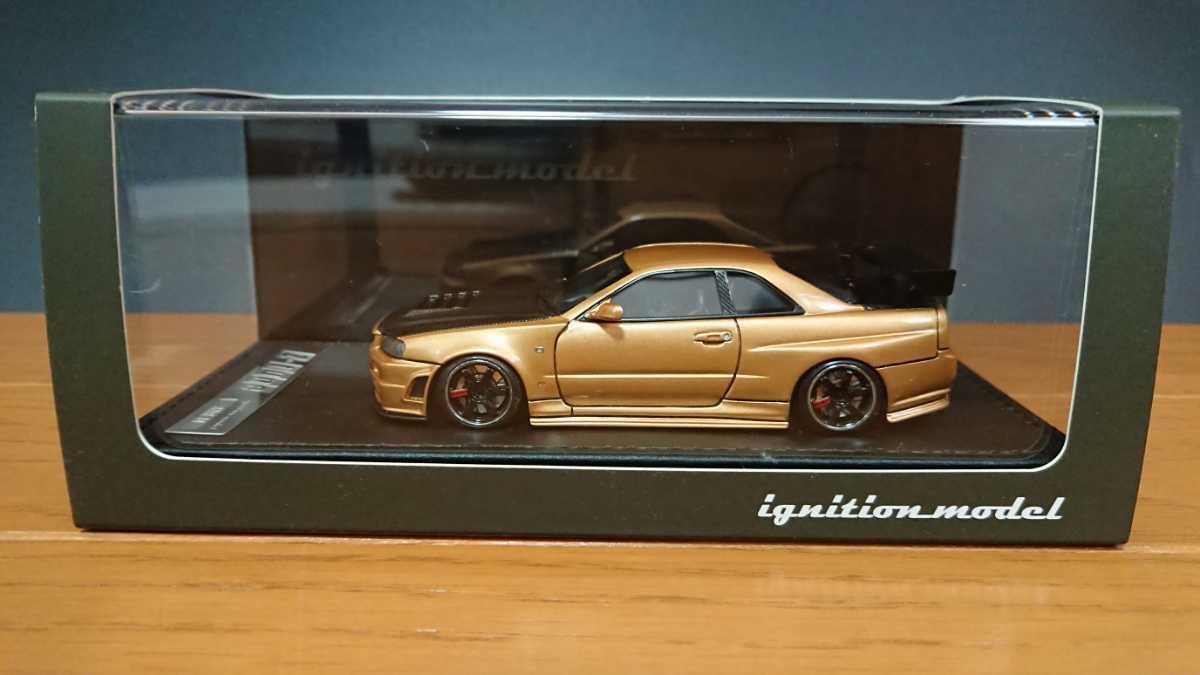 IGモデル イグニッションモデル IG0608 ニスモ R34 GT-R Z-tune ゴールド 日産GT-Rカスタムカー TKカンパニー_画像1