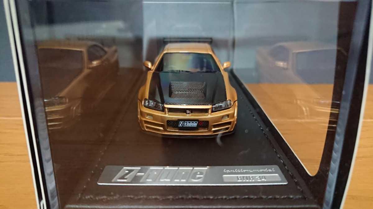 IGモデル イグニッションモデル IG0608 ニスモ R34 GT-R Z-tune ゴールド 日産GT-Rカスタムカー TKカンパニー_画像2
