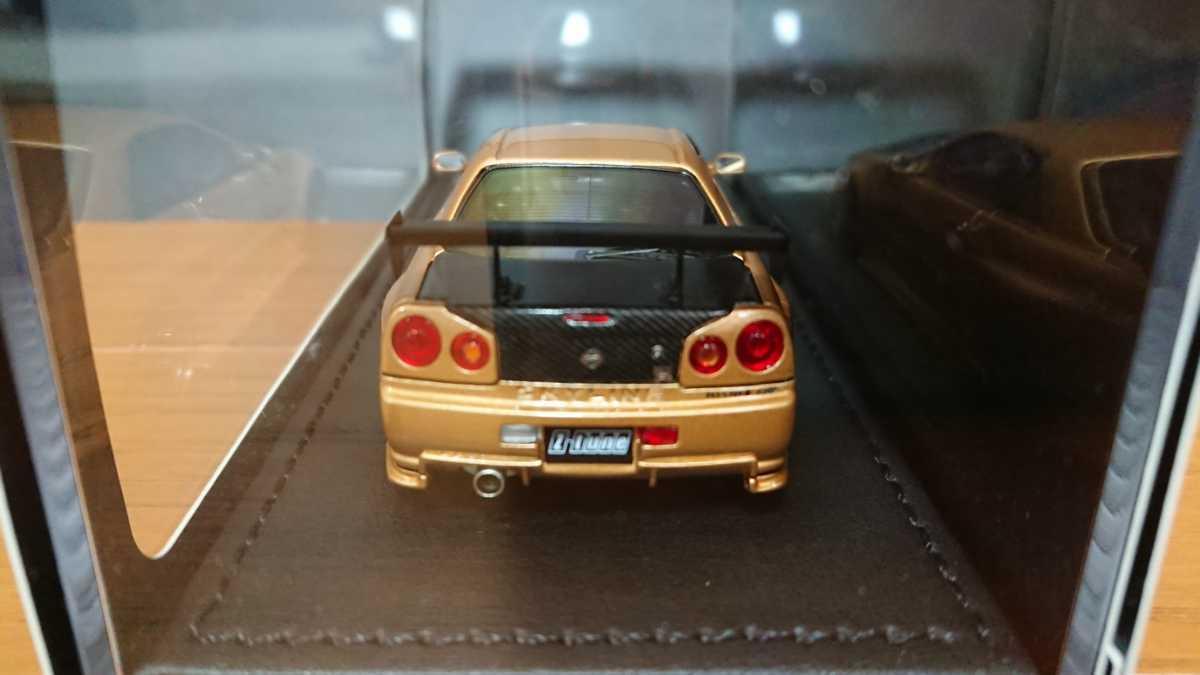 IGモデル イグニッションモデル IG0608 ニスモ R34 GT-R Z-tune ゴールド 日産GT-Rカスタムカー TKカンパニー_画像3