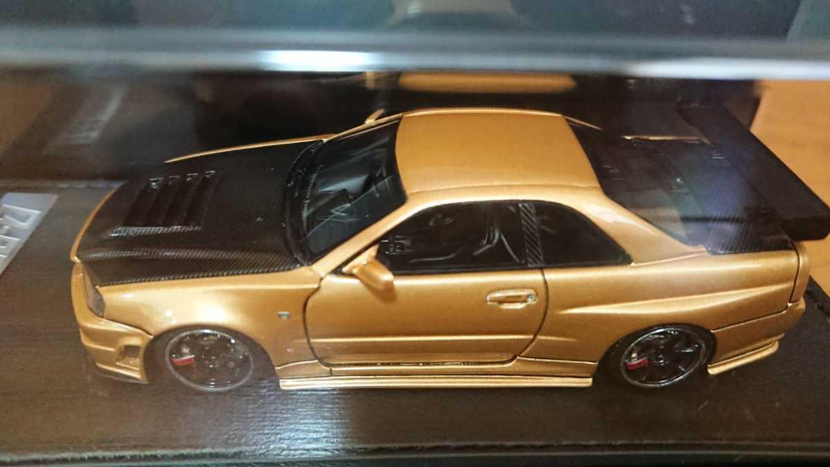 IGモデル イグニッションモデル IG0608 ニスモ R34 GT-R Z-tune ゴールド 日産GT-Rカスタムカー TKカンパニー_画像4