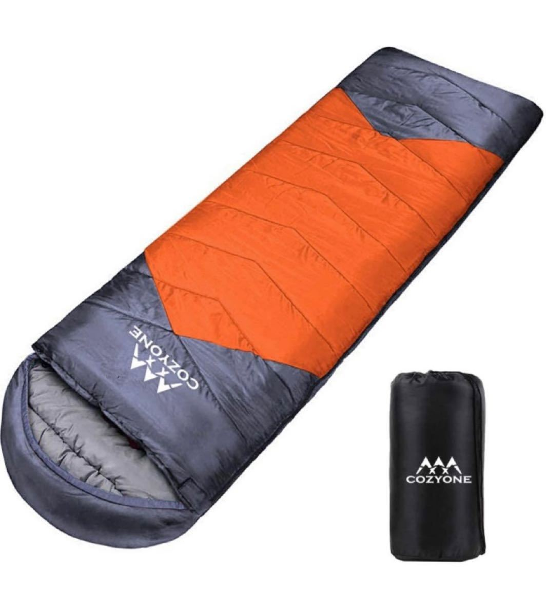 寝袋 シュラフ 封筒型 軽量 保温 210T防水コンパクト アウトドア キャンプ