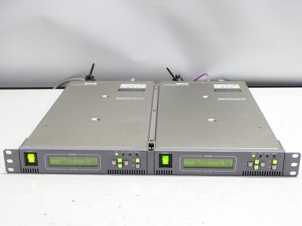 MITSUBISHI 素材伝送用MPEG2 エンコーダー MH-2700E 2台セット HD-SDI入力 ASI出力 中継機材*311067_画像1