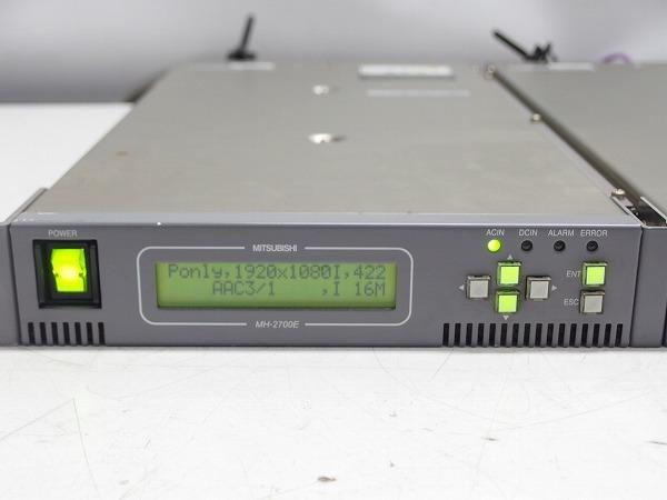 MITSUBISHI 素材伝送用MPEG2 エンコーダー MH-2700E 2台セット HD-SDI入力 ASI出力 中継機材*311067_画像4