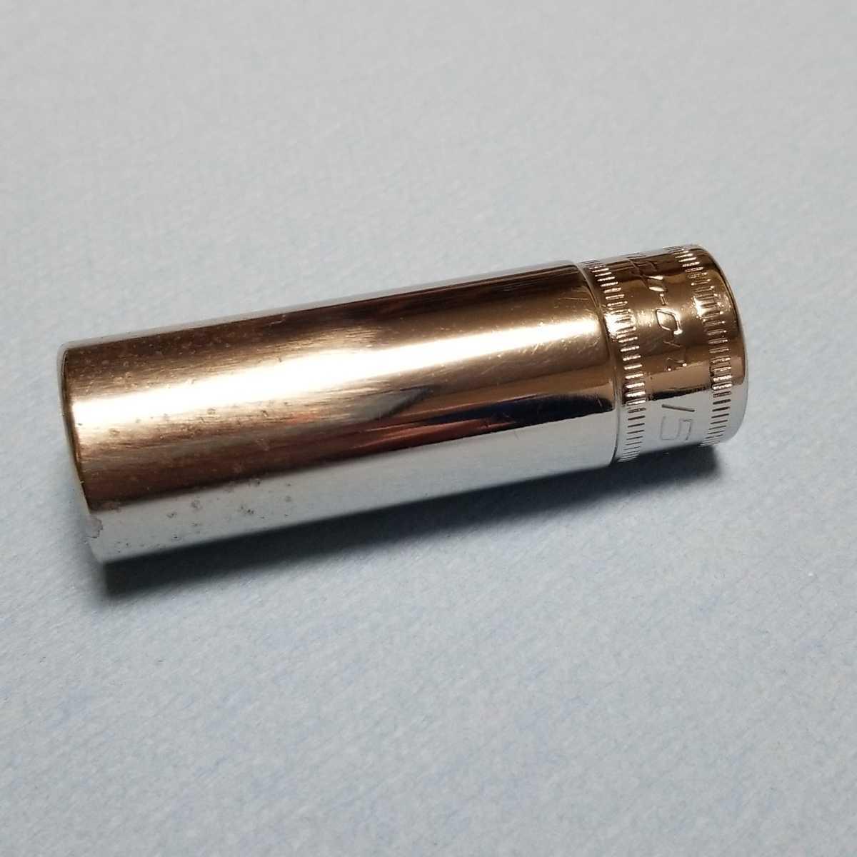 15mm 3/8 ディープ スナップオン SFSM15 (6角) 中古品 保管品 SNAPON SNAP-ON ディープソケット ソケット 送料無料 Snap-on _画像6