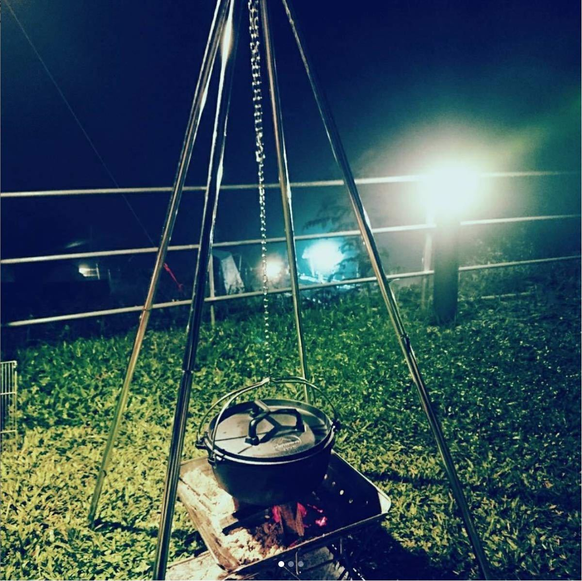 ★CAMPING MOON★キャンピングムーン★プレミアムファイヤースタンド★プレミアムトライポッド★MT-130★送料込★