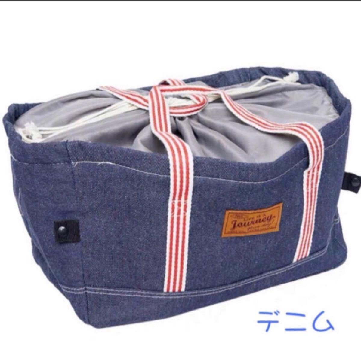 保冷温BIGバッグ エコバッグ レジカゴ 大容量 デニム柄 レジカゴバッグ ショッピングバッグ