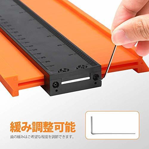 新品 即決型取りゲージ 金属ロック式 コンターゲージ 高精度 緩み調整可能 曲線定規 DIY用測定工具 輪郭コピー 不規則な測定器_画像3