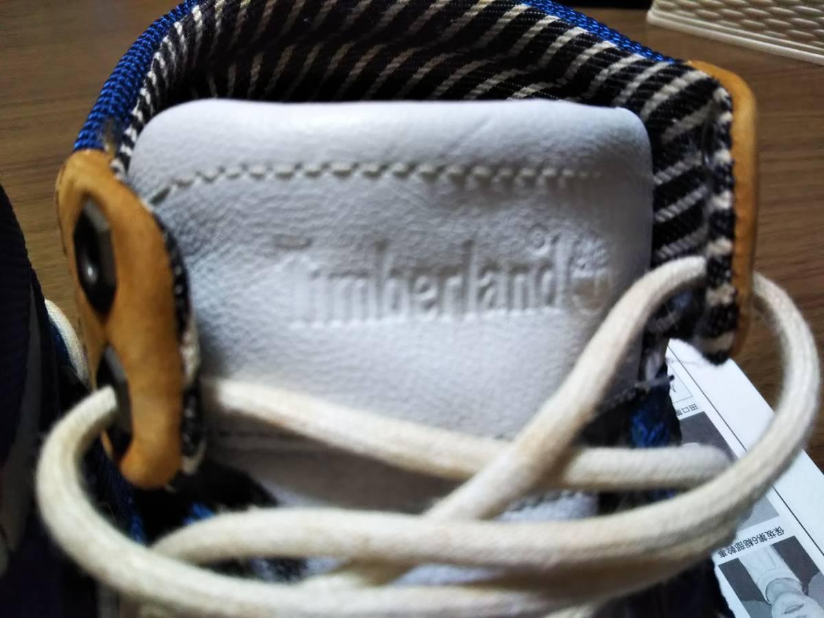 Timberland(ティンバーランド) 男性用ショートブーツ/ハイカットスニーカー サイズ8W(約26cm)希少 レアなブルー/ホワイト 青/白 美品☆_画像3