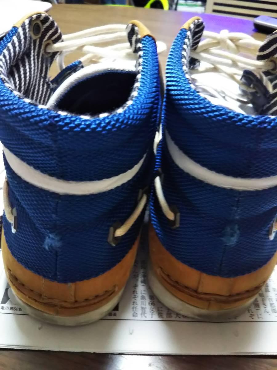 Timberland(ティンバーランド) 男性用ショートブーツ/ハイカットスニーカー サイズ8W(約26cm)希少 レアなブルー/ホワイト 青/白 美品☆_画像6