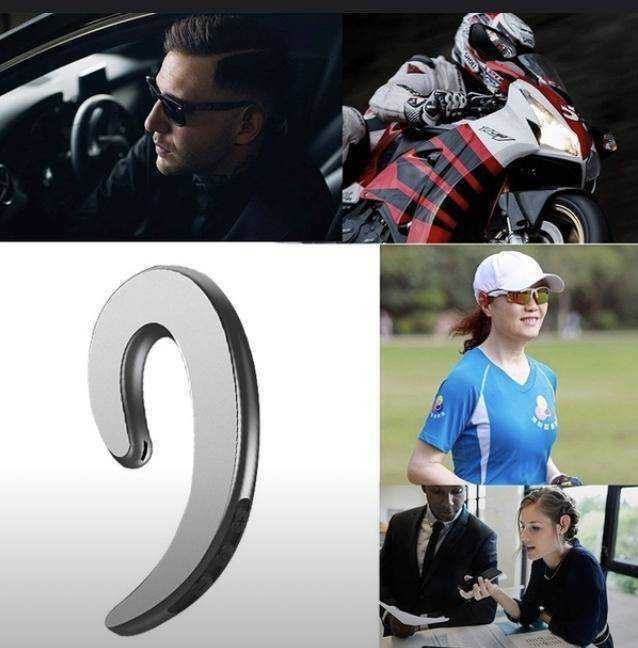耳掛けスタイル 骨伝導 Bluetooth ワイヤレス イヤホン iPhone Android_画像6