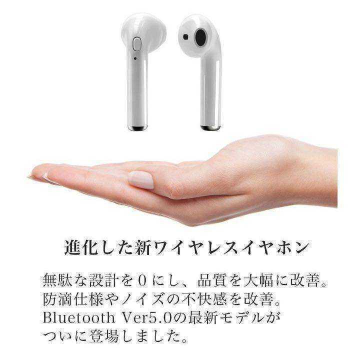 Bluetooth 完全ワイヤレスイヤホン イヤホン イヤフォン iPhone Android 日本語説明書_画像2