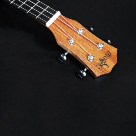 21インチ プロサペリイルカパターン ウクレレギター マホガニーネック 繊細なチューニングペグ 4弦の木製ウクレレ ギフト_画像3