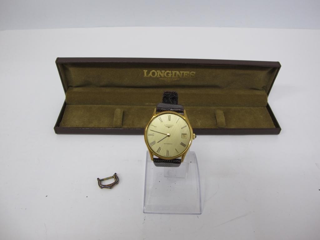 2‐186 LONGINES ロンジン AUTOMATIC 4184 994 稼働品 自動巻き メンズ 腕時計 アンティーク ゴールドカラー デイト 尾錠ロンジン ケース余
