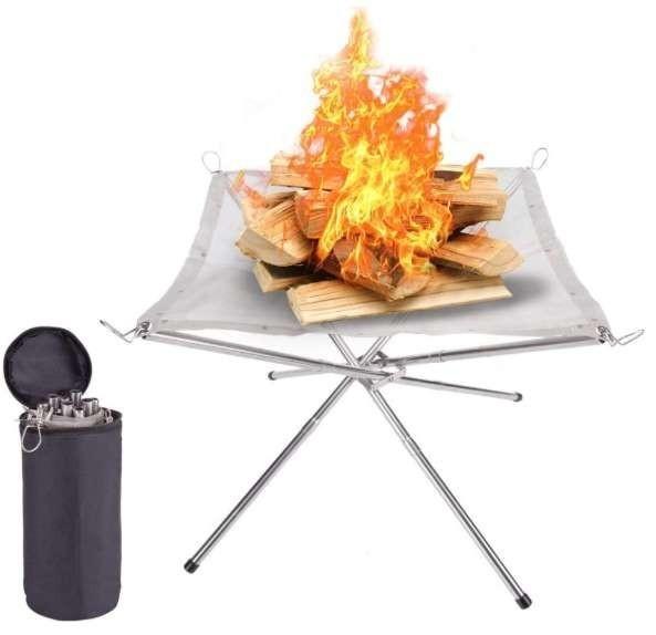 焚き火台+芝保護防火シート キャンプ バーベキュー  アウトドア