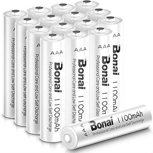 ! 単4充電池 (約1200回使用可能)CEマーキング取得 単4 高容量1100mAh 16個パック BONAI UL認証済み ニッケル水素電池 1点もの_画像1